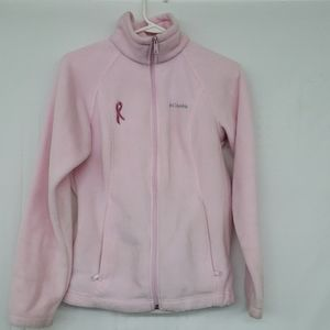 Columbia Full Zip Breast Cancer Pink Ribbon Fleece